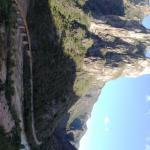 climbing the canyon walls