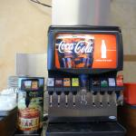 Coca-Cola beverages available in fountain, 20oz & 2 liters.