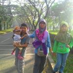Minggu pagi Di Taman Dayu...olah Raga bersama keluarga