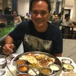 Scrumptuous veg thali.