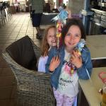 Just had the best English breakfast here... The girls are extra happy with their sweets that ice