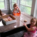 Kids love their Tom's Donuts at the lake!!!