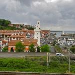 Vue ouest sur Ciboure (côté voie express et voie ferrée)