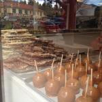 Apples and Toffee in Street Window