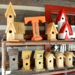 You'll find our birdhouses on the deck.