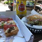 Nikkis Pizza served at Coaches Corner in Harmonie Park