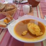 soupe de poisson et sa quenelle