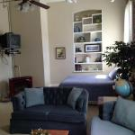 The sleeping and living room areas