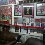 Great room with LFC theme in the basement.