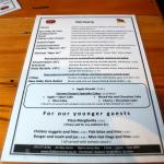 Dodson Beer Garden menu