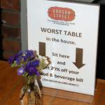 Dodson Beer Garden special table