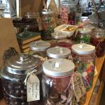 Eclectic candy coffee to go shop