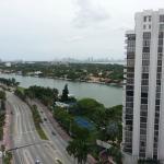 La vista a la ciudad de Miami.