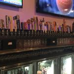A small sampling of the beers on tap