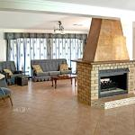 Guest lounge and fireplace