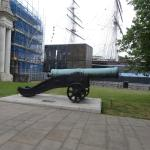 Large Cannon outside 'Discover Greenwich'