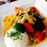 Blackened cod served with steamed rice...delicious
