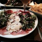 Cold beef & cheese platter with frites