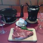 chuleton o fondue de carne