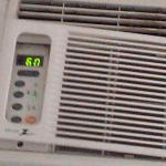 broken down AC that even on lowest setting did not cool the room