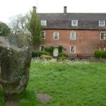 The Avebury stones just in front of the Manor.