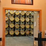 View of the barrel room