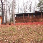 One of the cabins in the back part of Copperhead Lodge.