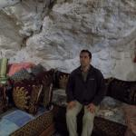 Kamal in one of the cave houses