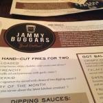 Jammy Buggars menu