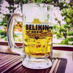 Ice cold Belikin at Corkers!