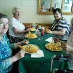 Pensioners trip out to the seaside with traditional fish and chips