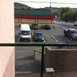 Parking lot and Denny's view