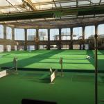 Driving range on roof of convention center