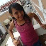 mi hija xitlaly desde los balcones de la habitacion