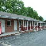 The motel is one long string of separate rooms