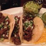 Steak Tacos with Green Salsa (Guacamole extra)