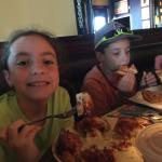 Kids and pizza!