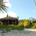 Looking from the OCEAN to our Bungalow!