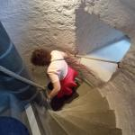 The top staircase- hang on to the ropes!