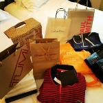 A lot of shopping!