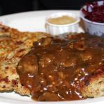 jeager schnitzle with potato cake