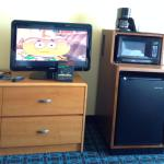 Cartoon Network! Microwave and mini fridge, too.