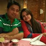 During lunch me & my wife .....