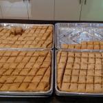 Trays of baklava