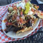 Pulled Pork Nachos! A meal in itself!