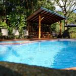 Cool off in the shade by the pool, with the sounds of the rushing rivers as your soundtrack