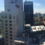 Panoramic view from our Queen Studio of Freedom Tower and Empire State Building!