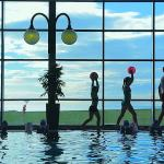 Family fun at the  pool at quality Hotel