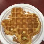 Texas shaped waffle! Genius!
