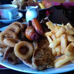 food was amazing had a double mix grill the meat was cooked to perfection  and the staff there w